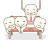 歯を抜いている歯のキャラクターのイラストです(アイキャッチ画像)。